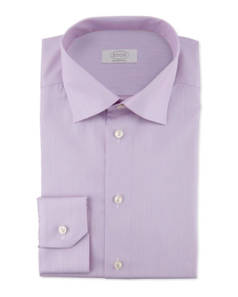 Contemporary-Fit Micro-Stripe Dress Shirt, Pink