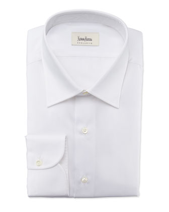 Textured Solid Dress Shirt, White