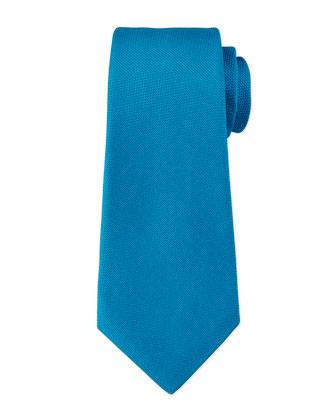 Textured Silk Tie, Teal