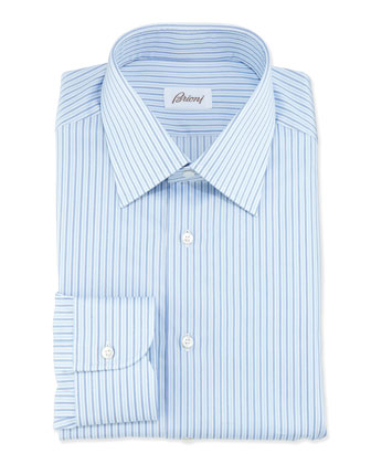 Alternating Striped Shirt, Blue
