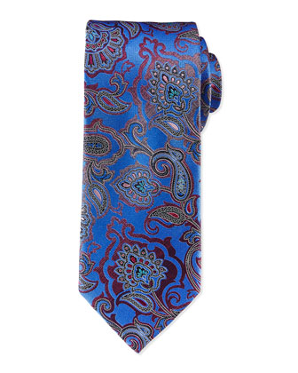Allover Paisley Tie, Blue