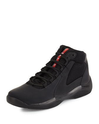 America's Cup High-Top Sneaker, Black