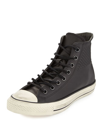 John Varvatos Studded Leather High-Top Sneaker