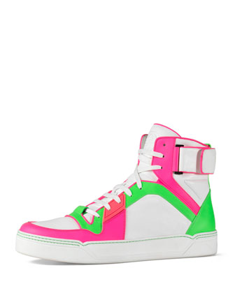 New Basketball High-Top, Neon/White