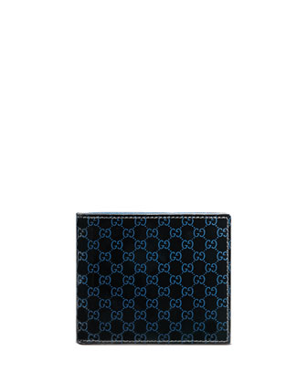 Micro GG Patent Leather Bi-Fold Wallet