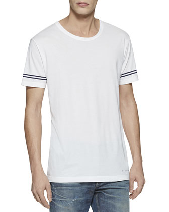 Light Cotton Jersey Tee, White