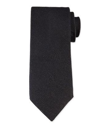 Solid Textured Tie, Gray