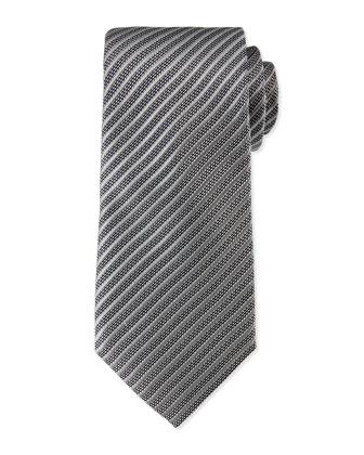 Fine Line Textured Tie, Gray