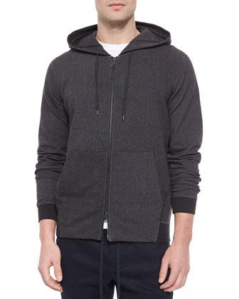 Hooded Track Jacket, Charcoal