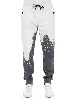 Faded Bomber Jacket, Baseball-Stitch Woven Logo Tee & Slim-Fit ...