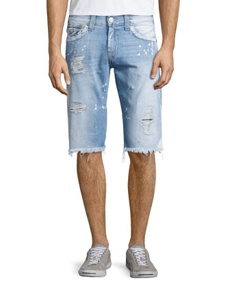 Ricky Sail Away Bleached Shorts, Blue