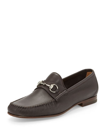Leather Horsebit Loafer, Brown
