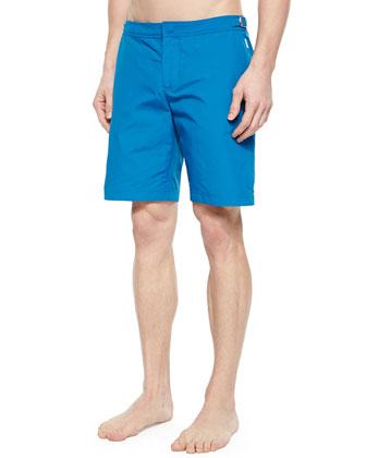 Dane Long-Length Swim Trunks, Teal