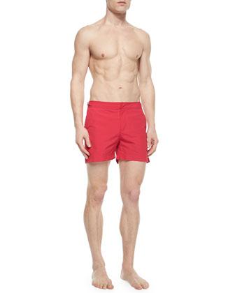 Setter Short-Length Swim Trunks, Fuchsia