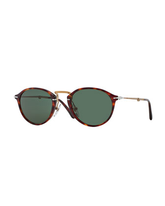 Reflex Edition Acetate Sunglasses, Havana