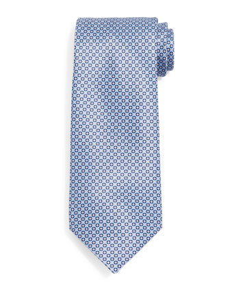 Small Neat Silk Tie, Light Blue
