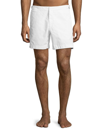 Speagle Solid Knit Shorts, White