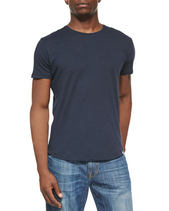 Tommy Solid Crewneck Tee, Navy