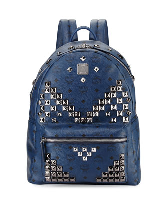 Stark Men's Studded Visetos Backpack, Navy