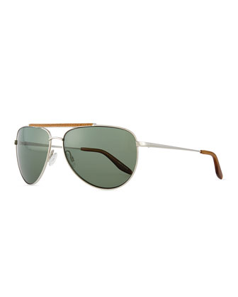 Breed Love Aviator Sunglasses, Silver