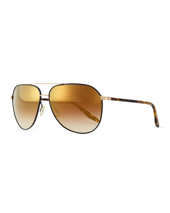 Hawkeye Aviator Sunglasses, Gold