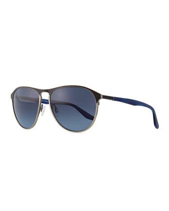 Koppin Round Frame Sunglasses, Gray
