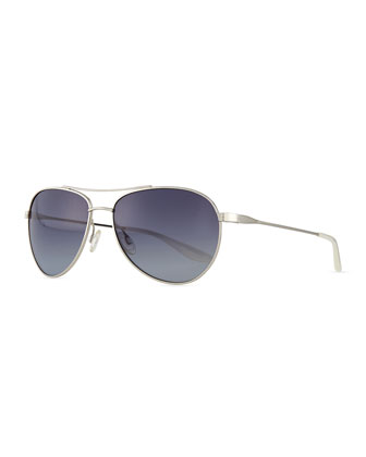 Lovitt Aviator Sunglasses, Gray