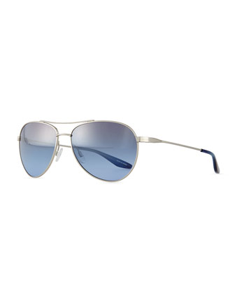 Lovitt Aviator Sunglasses, Silver
