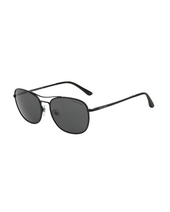 Polarized Square Sunglasses, Matte Black