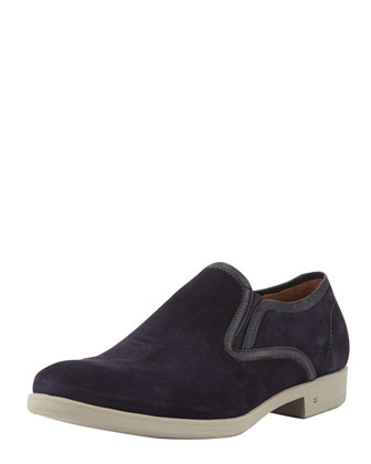 Dylan Slip-On Suede Loafer, Navy