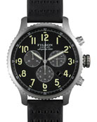 43mm Mackinaw Field Chrono Watch with Leather Strap, Black