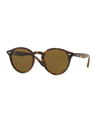 Classic Round Sunglasses, Dark Havana