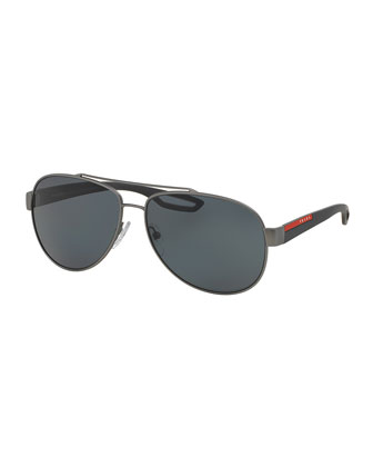 Aviator Sunglasses, Gunmetal