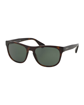 Rectangular Acetate Sunglasses, Havana