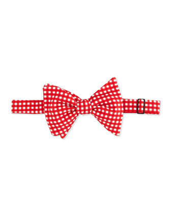 Bold Gingham Bow Tie, Red