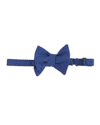 Small-Dots Bow Tie, Navy Blue