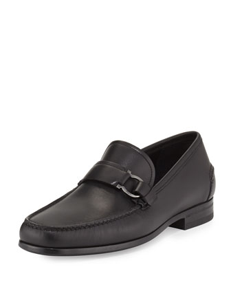 Ponza Leather Loafer, Black