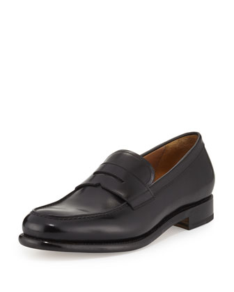 Tramezza Leather Penny Loafer, Black