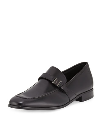 Pinot Calfskin Side Vara Loafer, Black
