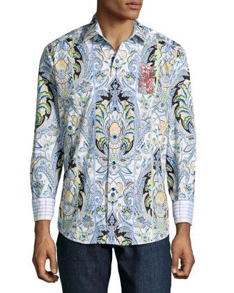 Anahola Paisley-Print Sport Shirt, Multi