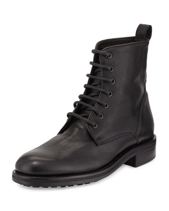 Carter Lace-Up Leather Boot, Black