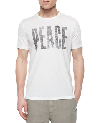 Big Peace Graphic Tee, Light Gray