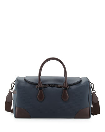 Chassis Leather Kit Bag, Navy