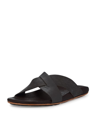 Punono Slide-On Sandal, Gray/Brown