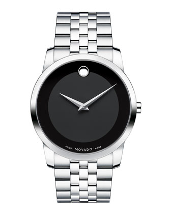 40mm Museum Classic Watch, Silver/Black
