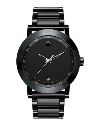 42mm Museum Sport Watch, Black