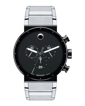 Sapphire Synergy Chronograph Watch, Silver/Black