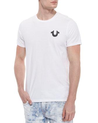 Graphic Logo Short-Sleeve Tee, White