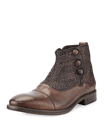 Fleetwood Button Boot, Brown