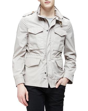 Lightweight Nylon Field Jacket, Taupe